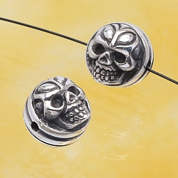 Silver Beads Skull Sterlingsilver 925 10mm