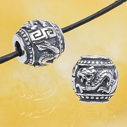 Silver BeadsThe Year Of The Dargon Sterlingsilver 925 10mm