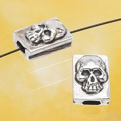 Silber Schädel Perle Silber 925 10x7mm