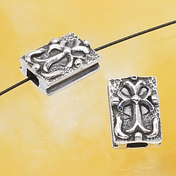 Silver Bead middle age Cross Sterlingsilver 925 10x7mm