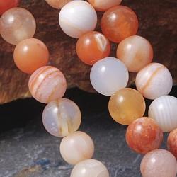 Botswana agate beads Orange 10mm