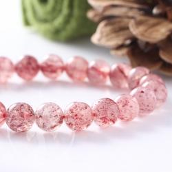 Erdbeer Quarz Perlen 4mm 40cm