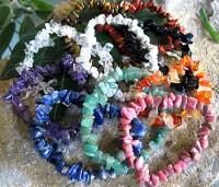 100 x bracelets simple tumbled stones