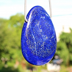Lapislazuli Drop Pendant Stone 60*40mm