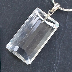 Crystal Pendant Silver 925 Long
