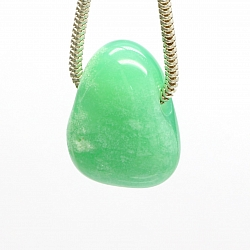 Chrysoprase Stone Pendant MINI 18x13mm