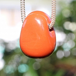 Red Jasper Stone Pendant MINI 18x13mm