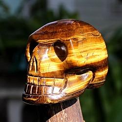 Tiger Eye Skull Gemstone 50mm