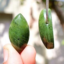 Nephrite Navette Pedant Stones 30x15mm