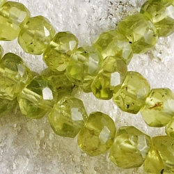Peridot loose beads facetted 5mm Ø 40cm