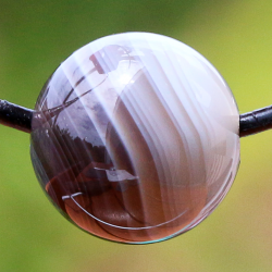 Botswana Agate Ball Gemstone Pendant 10mm