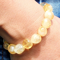 Citrin Tumble Stone Bracelet 10-12mm