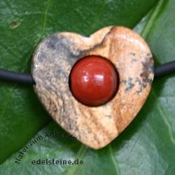 Roter/Landschaftsjaspis Herz klein