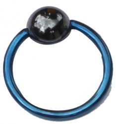 Titanium Klemmkugelring Dunkelblau Standard 1,2mm Piercingring