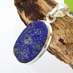 Lapis Lazuli Oval Pendant Stone Sterlingsilver 925  26x18 mm.