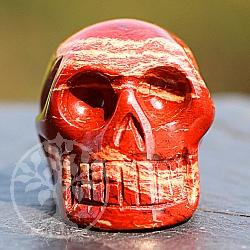 Jasper Convoluted Skull 30mm