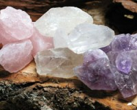 Water-Set 2 rosequarz,crystal,amethyste 500grams