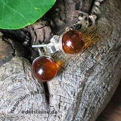 Amber Earstuds 21 6mm