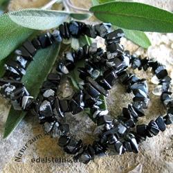 Schneeflocken Obsidian Splitterarmband