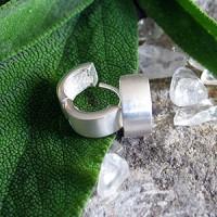 Silbercreolen zum Klappen 5mm matt SICRM5