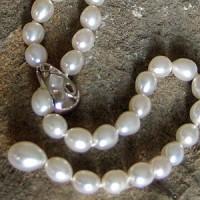 Perlenkette aus echten Perlen WYSS054NW