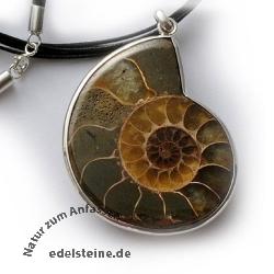 Ammoniten-Anhänger SIAM 35-40 mm Sterlingsilber 925