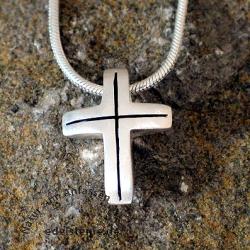 Silber Kreuz Anhaenger matt SIKR11
