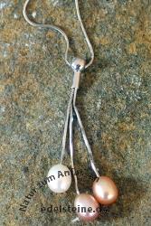 Perlenkette mit Silber WY1884NWOP