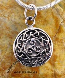 Keltischer Triskell  Anhaenger K42 Silber 925