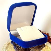 Schmuckbox samtRoyalblau Verpackung Schachtel für Ringe und Ohrringe etc.