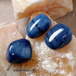 Blue quartz tumble stone high quality 3pcs