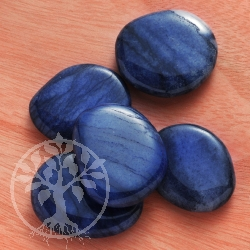 Blue quarz Flat Stones Chakrastone 3 Pieces