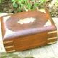Holzschatulle Raute