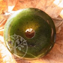 Nephrit Jade Donut Pendant