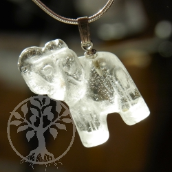 Bergkristall Elefant Anhänger
