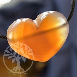 Carneol Herz Anhänger A Bellyknutsch 30*25