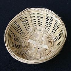 Körbe Bambus 100 Stück 10 cm rund Bambus Körbchen