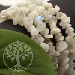 Regenbogen Mondstein Armband Abgerundete Perlen Splitterarmband