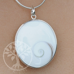 Shiva Shell Pendant silver SHAH5 26-34mm
