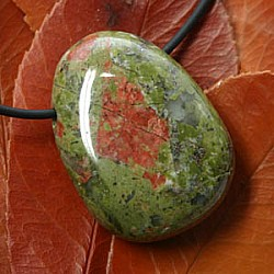 Unakite pendant A-quality 40mm