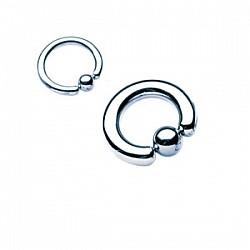 Titanium Klemmkugelring Stahlfarbe Standard 1,6mm Piercingring