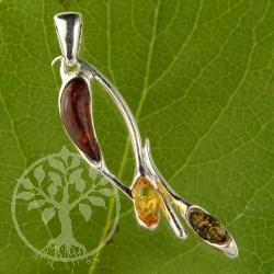 Amber Pendant Flower 1742
