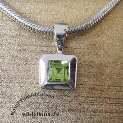 Silver Pendant Peridot square