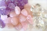 3 kg Rosenquarz, Bergkristall, Amethyst Trommelstein  Mix