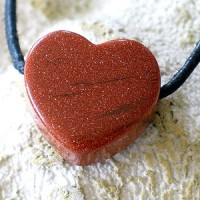 Goldstone Pendant Heart Shape