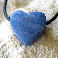 Blue Quartz Heart Pendant