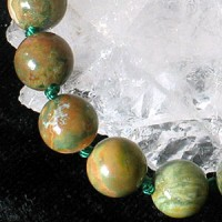 Rhyolite bead necklace 45cm/8mm