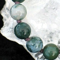Moss agate-neclace 75/8