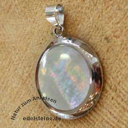 Mother of perl pendant Silver 925  34mm