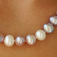 Pearl Necklace with different colour pearls 9mm